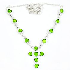 Green peridot quartz 925 sterling silver holy cross necklace jewelry k57098