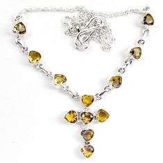 18.03cts multicolor ametrine (lab) 925 sterling silver necklace jewelry k83303