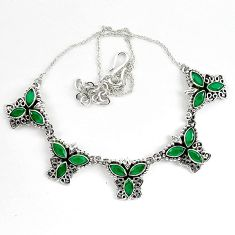 14.14cts green emerald quartz 925 sterling silver necklace jewelry k83319