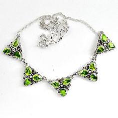 925 sterling silver green peridot quartz pear shape necklace jewelry k83351