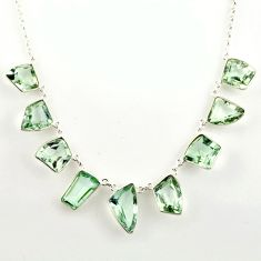 925 sterling silver 51.88cts natural green amethyst necklace jewelry r14186