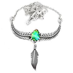 3.48cts dreamcatcher natural abalone paua seashell 925 silver necklace p41969