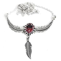 6.31cts dreamcatcher natural brown geode druzy 925 silver necklace p41973