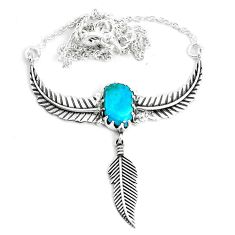 6.48cts dreamcatcher natural green opaline 925 sterling silver necklace p41976