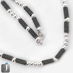 18.02gms FRENCH DEISGNER ROPE NECKLACE TRENDY CHAIN 925 STERLING SILVER G36860