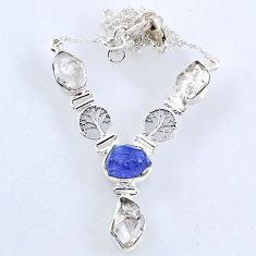 925 silver 27.18cts natural white herkimer diamond necklace jewelry r61192