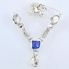 925 silver 27.18cts natural white herkimer diamond necklace jewelry r61194