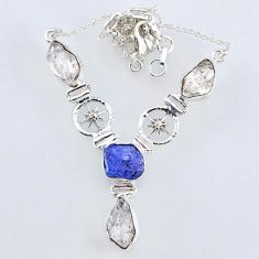 925 silver 25.89cts natural white herkimer diamond necklace jewelry r61199