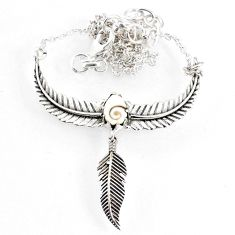 925 sterling silver 2.37cts dreamcatcher natural white shiva eye necklace r67824