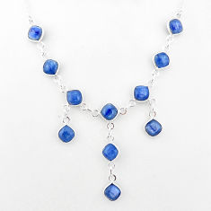 925 sterling silver 16.51cts natural blue kyanite necklace jewelry t2490
