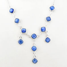 925 sterling silver 16.83cts natural blue kyanite necklace jewelry t2493