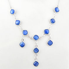 925 sterling silver 16.51cts natural blue kyanite necklace jewelry t2496
