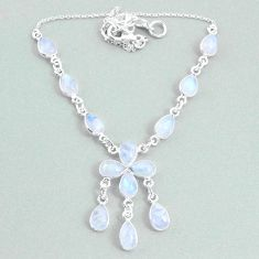 925 silver 20.96cts natural rainbow moonstone necklace jewelry t34118