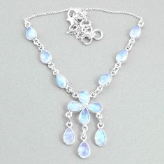 925 silver 20.96cts natural rainbow moonstone necklace jewelry t34120