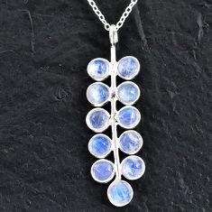 925 sterling silver 5.84cts natural rainbow moonstone necklace jewelry t4715