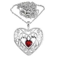 925 sterling silver natural red garnet topaz necklace mom initial jewelry c22277
