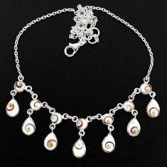 925 sterling silver 20.88cts natural white shiva eye pear necklace r60764