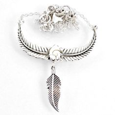 2.37cts dreamcatcher natural white shiva eye 925 sterling silver necklace r67826