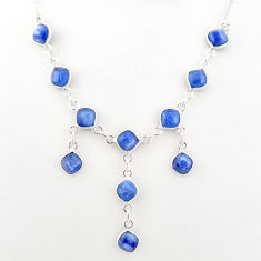 16.40cts natural blue kyanite 925 sterling silver necklace jewelry t2491