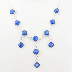 16.11cts natural blue kyanite 925 sterling silver necklace jewelry t2492