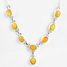 15.64cts natural multi color ethiopian opal 925 sterling silver necklace r59461