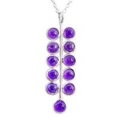 5.43cts natural purple amethyst 925 sterling silver necklace jewelry t4706