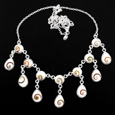 30.65cts natural white shiva eye 925 sterling silver necklace jewelry r63585