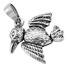 4.47gms 3d moving bali style solid 925 silver bird charm pendant c4323