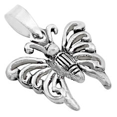 2.47gms 3d moving bali style solid 925 sterling silver butterfly pendant c4338