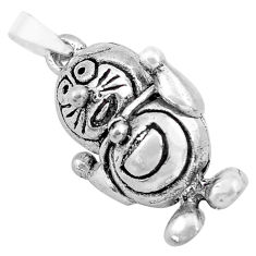 8.69gms 3d moving bali style solid 925 sterling silver pendant jewelry c4340