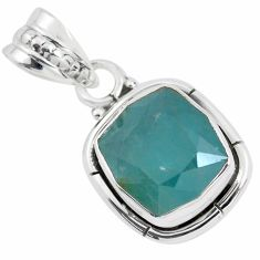 925 silver 5.09cts faceted natural grandidirite solitaire pendant p41504