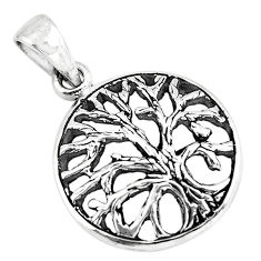 925 silver 3.89gms indonesian bali style solid tree of life pendant c3664