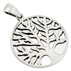 925 silver 3.68gms indonesian bali style solid tree of life pendant c4445