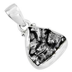 925 silver 16.62cts natural campo del cielo (meteorite) fancy pendant p69296
