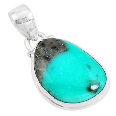 925 silver 14.23cts natural green campitos turquoise pendant jewelry p46457