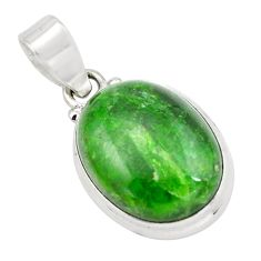 925 silver 12.58cts natural green chrome diopside oval shape pendant p65810