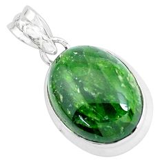 925 silver 18.68cts natural green chrome diopside pendant jewelry p47209