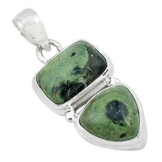 925 silver 9.72cts natural green kambaba jasper (stromatolites) pendant p67451