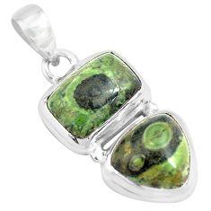925 silver 13.28cts natural green kambaba jasper (stromatolites) pendant p70490