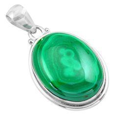 925 silver 29.93cts natural green malachite (pilot's stone) pendant p86040