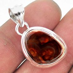 925 silver 9.80cts natural multi color mexican fire agate pendant jewelry p54033