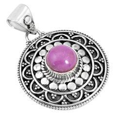925 silver 3.16cts natural purple phosphosiderite (hope stone) pendant p33495
