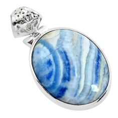 925 silver 19.23cts natural scolecite high vibration crystal pendant p40608