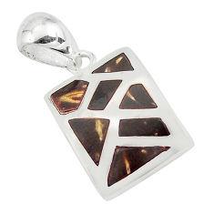 925 sterling silver 3.69gms black onyx enamel pendant jewelry c3064