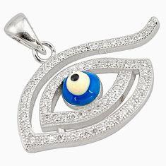 925 sterling silver 3.17cts blue evil eye talismans topaz pendant jewelry c4427