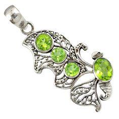 925 sterling silver butterfly charm green peridot quartz pendant jewelry h96384