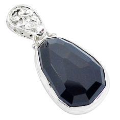 925 sterling silver faceted natural rainbow obsidian eye pendant jewelry p47172