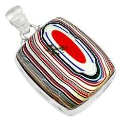 925 sterling silver 14.72cts fordite detroit agate pendant jewelry p79184