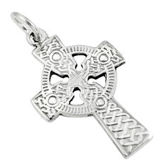 925 sterling silver 2.48gms indonesian bali style solid holy cross pendant c3680