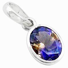 925 sterling silver 2.09cts multi color ametrine pendant jewelry p73720